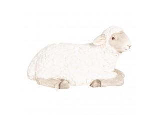 Velikonoční dekorativní soška s ležící ovečkou - 51*26*27 cm