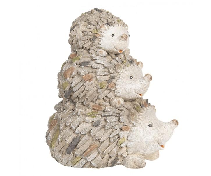 Zahradní dekorace ježci - 32*23*35 cm