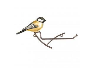Kovový držák toaletního papíru s ptáčkem - 25*5*13 cm