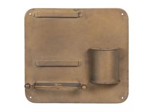 Retro nástěnný držák na toaletní papír - 30*5*28 cm