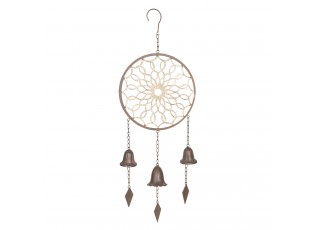 Zahradní dekorace Lapač snů se zvonečky - 25*6*72 cm