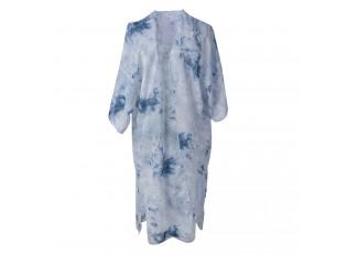 Delší  dámská tunika s modrým batikováním - uni velikost