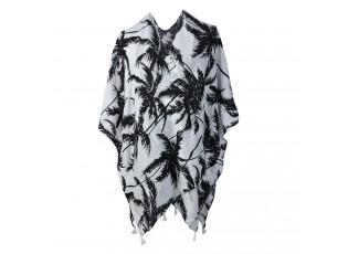 Bílo - černá tunika s palmami - uni velikost