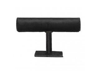 Černý sametový stojan na náramky - 23*7*14 cm
