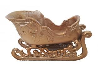 Dekorace bronzové kovové sáňky  - 26*11*15 cm