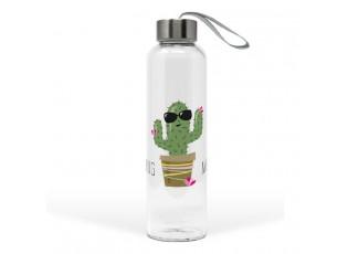 Skleněná láhev Hug me Cactus - 550ml