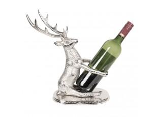 Stříbrný stojan na láhev vína Jelen - 23*16*35 cm