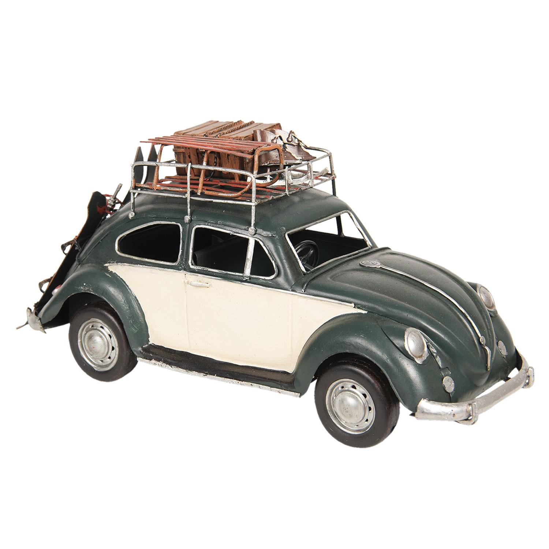 Clayre & Eef Retro kovový model VW Beetle - 36*12*16 cm