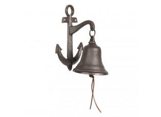 Litinový zvonek s kotvou - 14*10*22 cm