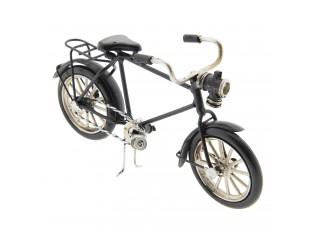 Kovový model retro černého bicyklu - 16*5*9 cm