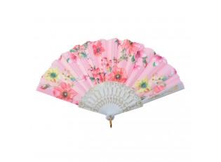 Růžový vějíř s květy - 20 cm