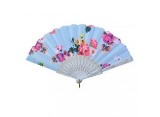 Modrý vějíř s květy - 20 cm
