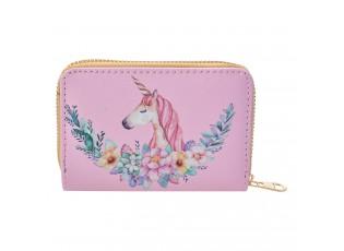 Růžová menší peněženka s jednorožcem I - 13*9  cm