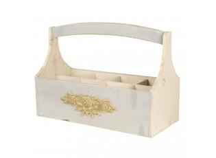 Dřevěný podnos s boxy - 45*21*34 cm