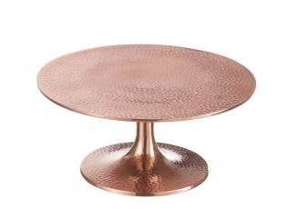 Měděný kovový podnos Dimples copper - Ø 25*12 cm