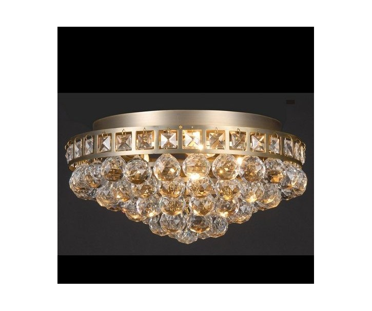 Stropní lampa s krystaly