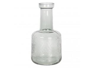 Skleněná váza s dekorem Idelle – Ø 10*19 cm