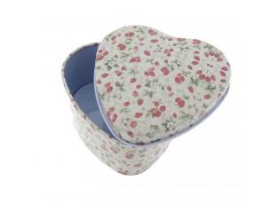 Malá plechová krabička /šperkovnice srdce - 7*7*4 cm
