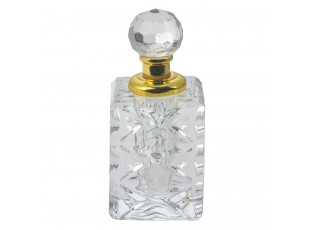Skleněný flakón na parfém Cristal - 4 cm