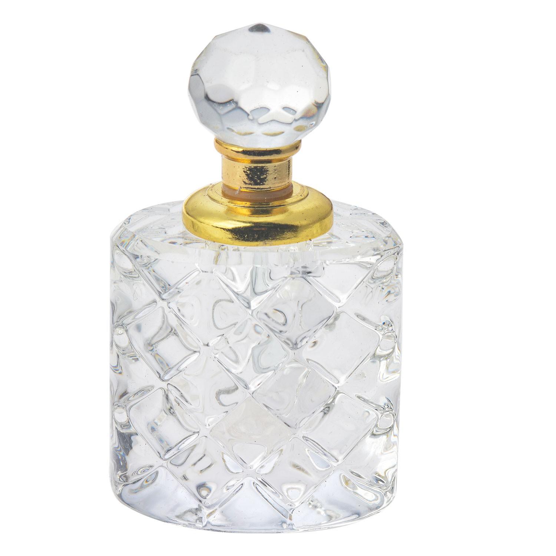 Clayre & Eef Flakón na parfém z broušeného skla Cristal - 4 cm