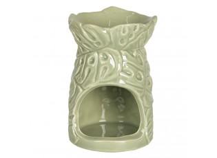 Zelená aróma lampa s listami - Ø 7 * 11 cm