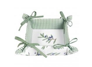 Bavlněný košíček na pečivo Olive Garden - 35*35*8 cm