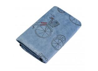 Modrý ručník  s kolem - 35*75 cm