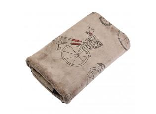 Hnědý ručník s kolem - 35*75 cm