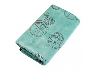 Zelený ručník s kolem - 35*75 cm