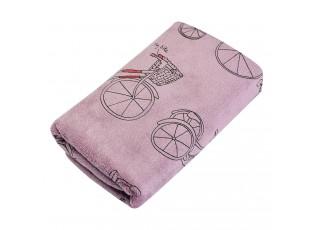 Růžový ručník s kolem - 35*75 cm
