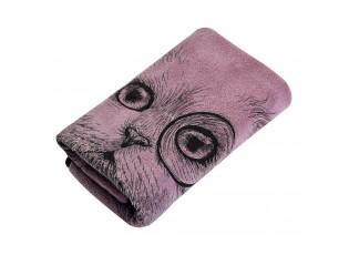 Růžový ručník Cat - 35*75 cm