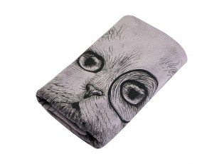 Fialový ručník Cat - 35*75 cm