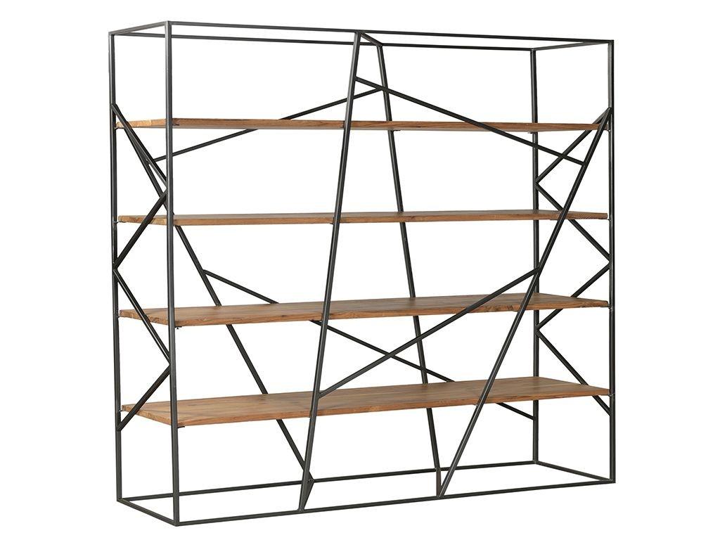 Kovový dřevěný policový regál Cube -150*40*200cm