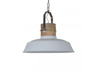 Bílé závěsné kovové světlo Loreto - Ø 42*38 cm