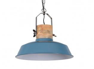 Modré závěsné kovové retro světlo Loreto vintage blue - Ø 34 *31 cm