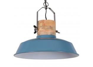 Modré závěsné kovové retro světlo Loreto vintage blue - Ø 42 *38 cm