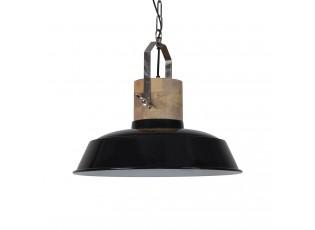 Černé závěsné kovové retro světlo Loreto black - Ø 42 *38 cm