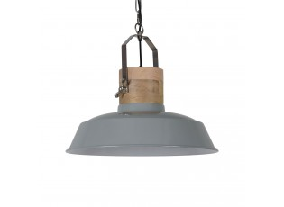 Šedé závěsné kovové retro světlo Loreto grey - Ø 42 *38 cm