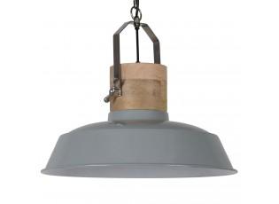 Šedé závěsné kovové retro světlo Loreto grey - Ø 62 *43 cm