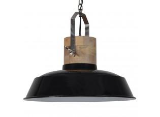 Černé závěsné kovové retro světlo Loreto black - Ø 62 *43 cm