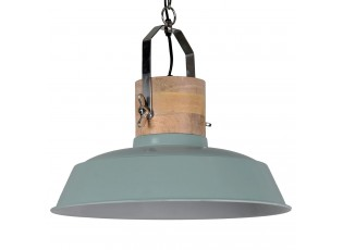 Zelené závěsné kovové retro světlo Loreto vintage green - Ø 62 *43 cm