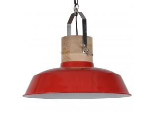 Červené závěsné kovové retro světlo Loreto red - Ø 62 *43 cm