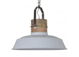 Bílé závěsné kovové retro světlo Loreto white - Ø 62 *43 cm