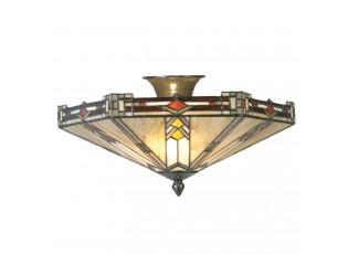 Stropní Tiffany svítidlo Goddard – Ø 40*23 cm E14/max 2*40W