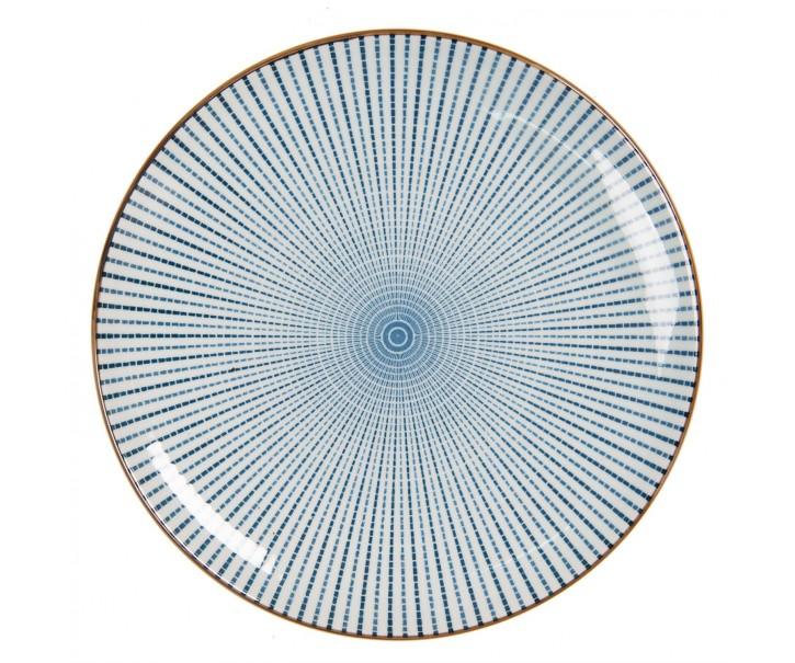 Dezertní talíř s modrým zdobením BlueLine - Ø  21 cm