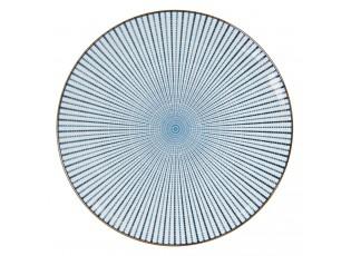 Jídelní talíř s modrým zdobením BlueLine - Ø 26 cm