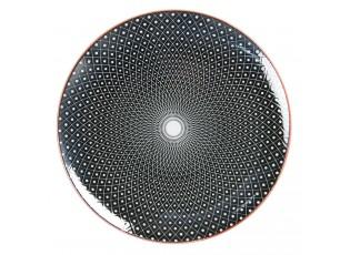 Černý jídelní talíř Blackin - Ø 26 cm