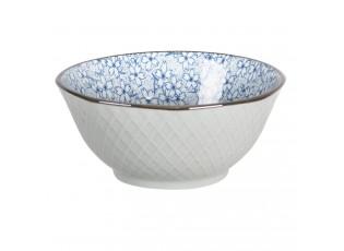 Miska modré kvítky BlueFlow - Ø13*6 cm