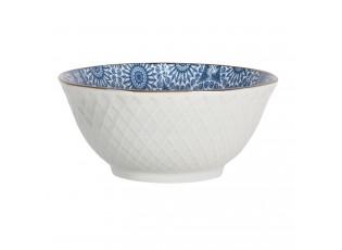 Miska s modrým květinovým ornamentem BlueSnow - Ø 13*6 cm