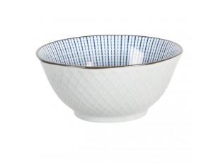 Miska s modrým zdobením BlueLine - Ø 13*6 cm